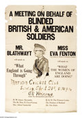 "Military & Patriotic:WWI, Meeting for Blinded British Soldiers Poster 42"" x 28"" Artist:unsigned. The first World War marked the beginning of a horrif..."