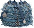 "Luxury Accessories:Bags, Chanel Blue Quilted Lambskin Leather & Denim Bucket Bag.Excellent Condition. 7.5"" Width x 9"" Height x 4.5""Depth. ..."