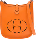 """Luxury Accessories:Bags, Hermes Orange H Epsom Leather Evelyne TPM Bag with PalladiumHardware. H Square, 2004. Excellent Condition.6.5"""" W..."""