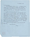 Books:Manuscripts, T. S. Eliot. Collection of Seventeen Typed Letters, Signed, Written to His Niece, Charlotte Stearns Gussow (née Smith). [Var...