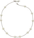 Estate Jewelry:Necklaces, Cultured Pearl, White Gold Necklace, Mikimoto. ...