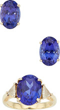 Estate Jewelry:Suites, Tanzanite, Diamond, Gold Jewelry. ... (Total: 2 Items)
