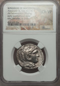 Ancients:Greek, Ancients: MACEDONIAN KINGDOM. Alexander III the Great (336-323 BC).AR tetradrachm (16.95 gm). NGC Choice VF....