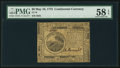 Colonial Notes:Continental Congress Issues, Continental Currency May 10, 1775 $6 PMG Choice About Unc 58 EPQ.....