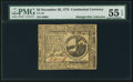 Colonial Notes:Continental Congress Issues, Continental Currency November 29, 1775 $2 PMG About Uncirculated 55EPQ.. ...