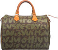 Luxury Accessories:Bags, Louis Vuitton Limited Edition Green Monogram Graffiti Canvas Speedy30 Bag by Stephen Sprouse. Good to Very Good Condition...