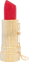 Luxury Accessories:Bags, Kathrine Baumann Limited Edition Full Bead Red & Clear CrystalLipstick Minaudiere Evening Bag, 12/500. ExcellentConditio...
