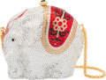 Luxury Accessories:Bags, Kathrine Baumann Limited Edition Full Bead Silver & Red CrystalElephant Minaudiere Evening Bag, 41/500. Very GoodConditi...