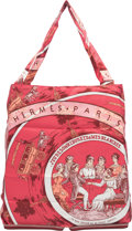 """Luxury Accessories:Bags, Hermes Rouge H Buffalo Leather & Red """"Jeu Des Omnibus et DamesBlanches,"""" by Hugo Grygkar Silky Pop Tote Bag. ExcellentCo..."""