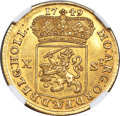 Netherlands:Holland, Netherlands: Holland. Provincial gold 10 Stuivers (1/2 Gulden) 1749 MS62 NGC,...