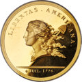 United States, United States: Libertas Americana gold Retrike Medal (1776) GemProof,...