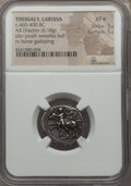 Ancients:Greek, Ancients: THESSALY. Larissa. Ca. 460-400 BC. AR drachm (6.18gm). NGC XF ★ 5/5 - 5/5....