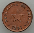 Chile, Chile: Republic 1/2 Centavo 1851 UNC - Cleaned,...