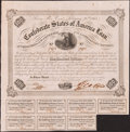 Confederate Notes:Group Lots, Ball 212 Cr. 120 $100 Bond 1861 Very Fine.. ...
