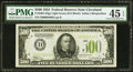 Small Size:Federal Reserve Notes, Fr. 2201-D $500 1934 Light Green Seal Federal Reserve Note. PMG Choice Extremely Fine 45 EPQ.. ...
