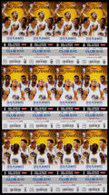 Basketball Collectibles:Others, 2016 NBA Finals Ticket Sheets (3) - Game 1, 2, 5 - Cleveland Cavaliers First Championship!...