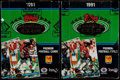 Football Cards:Boxes & Cases, 1991 Stadium Club Football Unopened Box Pair (2). ...