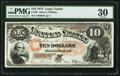 Large Size:Legal Tender Notes, Fr. 99 $10 1878 Legal Tender PMG Very Fine 30.. ...