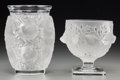 Art Glass:Lalique, Two Lalique Clear and Frosted Glass Vases: Bagatelle,Elisabeth, post-1945. Marks: Lalique, France. 6-3/4inches... (Total: 2 Items)