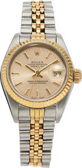 Estate Jewelry:Watches, Rolex Lady's Gold, Stainless Steel Datejust Watch, circa 1986. ...