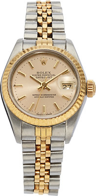 Rolex Lady's Gold, Stainless Steel Datejust Watch, circa 1986