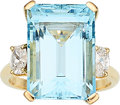 Estate Jewelry:Rings, Aquamarine, Diamond, Gold Ring . ...