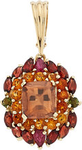 Estate Jewelry:Pendants and Lockets, Multi-Stone, Gold Enhancer-Pendant, Andrew Sarosi . ...