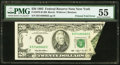Error Notes:Foldovers, Fr. 2079-B $20 1993 Federal Reserve Note. PMG About Uncirculated55.. ...