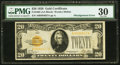 Error Notes:Skewed Reverse Printing, Fr. 2402 $20 1928 Gold Certificate. PMG Very Fine 30.. ...