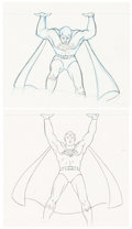 Animation Art:Production Drawing, Super Friends Superman Animation Drawing Sequence of 5(Hanna-Barbera, c. 1970s-80s).... (Total: 5 Original Art)