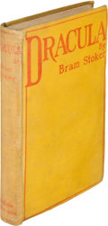 Books:Horror & Supernatural, Bram Stoker. Dracula. Westminster: Archibald Constable andCompany, 1897. First edition, final leaf in second st...