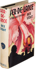 Books:Mystery & Detective Fiction, Rex Stout. Fer-De-Lance. London: Cassell & Co., [1935].First English edition....