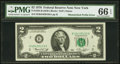 Error Notes:Mismatched Prefix Letters, Fr. 1935-B $2 1976 Federal Reserve Note. PMG Gem Uncirculated 66EPQ.. ...