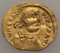 Ancients:Byzantine, Ancients: Heraclius (AD 610-641). AV tremissis (1.45 gm). Fine,crimped....