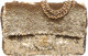"Chanel Metallic Gold Sequin Medium Single Flap Bag Excellent Condition 10"" Width x 6"" Height x 2.5"" Depth..."
