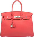 Luxury Accessories:Bags, Hermes 35cm Bougainvillea Clemence Leather Birkin Bag with...
