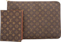 "Luxury Accessories:Bags, Louis Vuitton Classic Monogram Canvas Portfolio & Agenda Cover.Very Good Condition. 15"" Width x 11"" Height x 1.5"" Depth. ...(Total: 2 )"