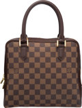 "Luxury Accessories:Bags, Louis Vuitton Damier Ebene Canvas Brera Bag. Very Good toExcellent Condition. 9.5"" Width x 8"" Height x 4.5"" Depth. ..."