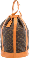 "Luxury Accessories:Bags, Louis Vuitton Classic Monogram Canvas Randonee Backpack Bag.Very Good Condition. 13"" Width x 17.5"" Height x 7""Depth..."