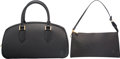 "Luxury Accessories:Bags, Louis Vuitton Set of Two; Black Epi Leather Bags. ExcellentCondition. 13"" Width x 7"" Height x 4"" Depth. 9.5"" Width x 5"" H...(Total: 2 )"