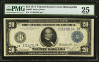 Fr. 997 $20 1914 Federal Reserve Note PMG Very Fine 25