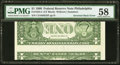 Error Notes:Inverted Reverses, Fr. 1924-C $1 1999 Federal Reserve Note. PMG Choice About Unc 58.....