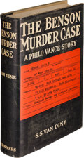 Books:Mystery & Detective Fiction, S. S. Van Dine. The Benson Murder Case. New York: Charles Scribner's Sons, 1926. First edition....