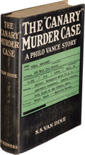 "Books:Mystery & Detective Fiction, S. S. Van Dine. The ""Canary"" Murder Case. New York: Charles Scribner's Sons, 1927. First edition...."