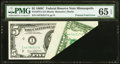Error Notes:Foldovers, Fr. 1972-I $5 1969C Federal Reserve Note. PMG Gem Uncirculated 65EPQ.. ...