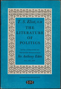 Books:Literature 1900-up, T. S. Eliot. The Literature of Politics. [London: 1955].First edition, inscribed....