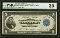 Fr. 803* $5 1918 Federal Reserve Bank Note PMG Very Fine 30