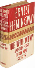 Books:Literature 1900-up, Ernest Hemingway. The Fifth Column and the First Forty-NineStories. New York: 1938. First edition.. ...