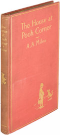 Books:Children's Books, A. A. Milne. The House at Pooh Corner. New York: [1928].First edition, limited twelvemo issue, signed....