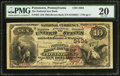 National Bank Notes:Pennsylvania, Pottstown, PA - $10 1882 Brown Back Fr. 482 The National Iron BankCh. # 3494. ...